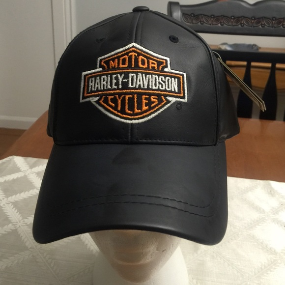 Harley-Davidson Accessories - Harley Davidson leather baseball cap new 11eee2ea8f0