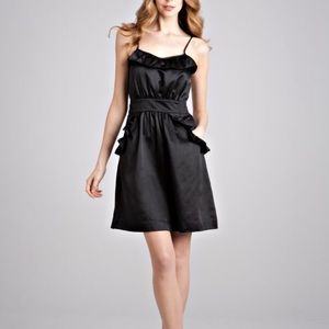 Marc Jacobs satin dress with ruffles