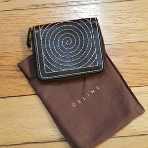 Celine Handbags - Celine Brown Wallet with Embroidery