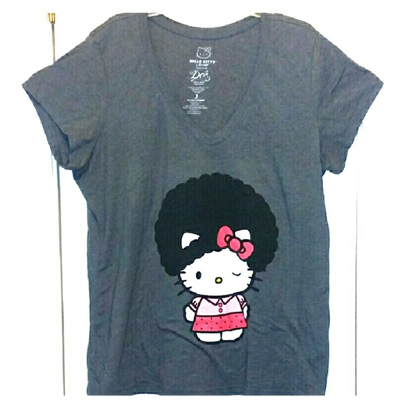 2b4ffe4e2 Torrid 3 Hello Kitty Afro Graphic T-Shirt Gray. M_56e0c4366d64bc8a95049380