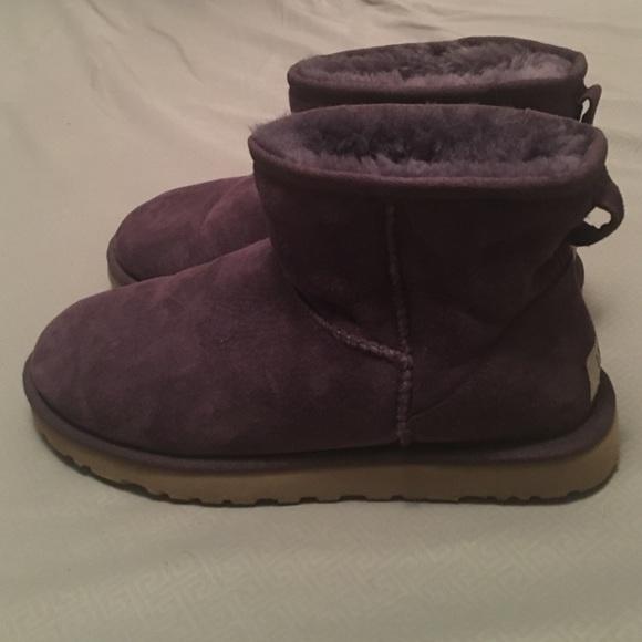 Purple classic mini Ugg boots
