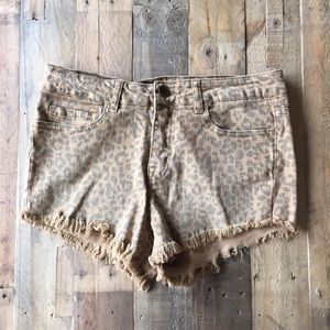 Nasty Gal Leopard Shorts