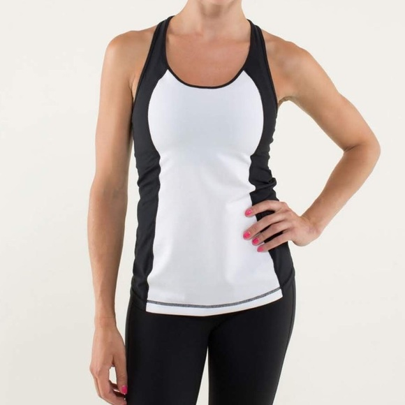 4606c6e7a43dc lululemon athletica Tops - Lululemon Cool Racerback Mod Waves Tank Top