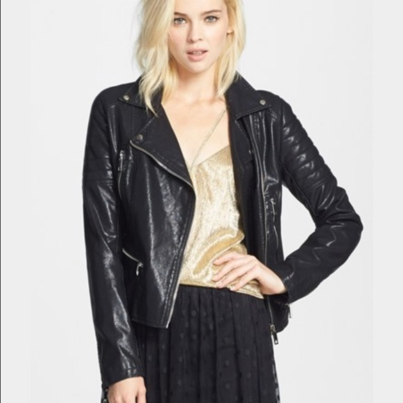 49% off Blank NYC Jackets & Blazers - Blank NYC faux leather Moto ... : quilted faux leather moto jacket - Adamdwight.com