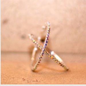 Farah Jewelry Jewelry - ❤️BOGO 50%💖GIFT IDEA💖Rhinestone hoop earrings💖