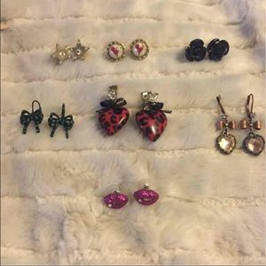 Betsey Johnson earring bundle