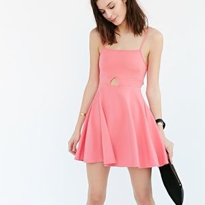 Skater cut out dress (coral)