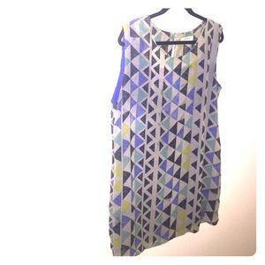 Umgee geometric print shift dress