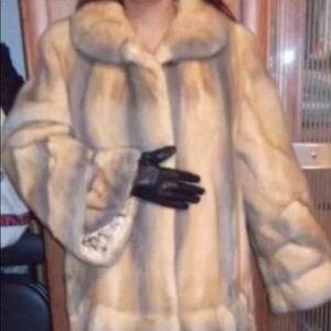 Jackets & Blazers - Gorgeous genuine mink swing coat size 8-10-12