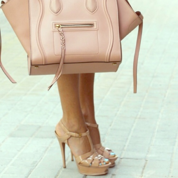 bca2cf8a1f7b Yves Saint Laurent Shoes - YSL Tribute Nude-Powder Sandals