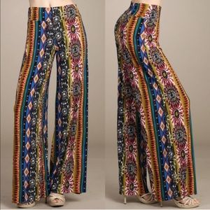 The TABBY Print palazzo pants - BLUE