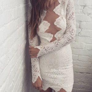For Love and Lemons Dresses & Skirts - For Love & Lemons white noir mini dress