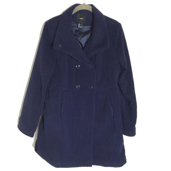 d471bacf042 Forever 21 Jackets   Blazers - Womens Navy Blue Peacoat Size Large Euc