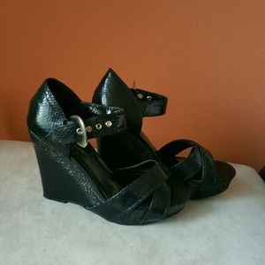Diba Shoes - 4 inch black wedges