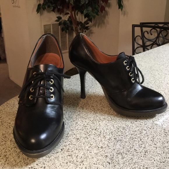 7d650f084d4 Dr. Martens Shoes - Dr Martens Black Leather Zita Ofira Heels Sz 7