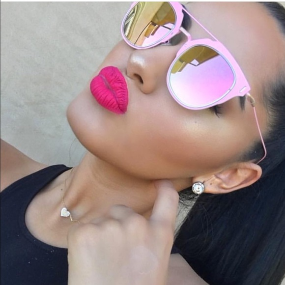 5a50c9045d62 HOT PINK MIRRORED SQUARED AVIATOR CHIC SUNGLASSES