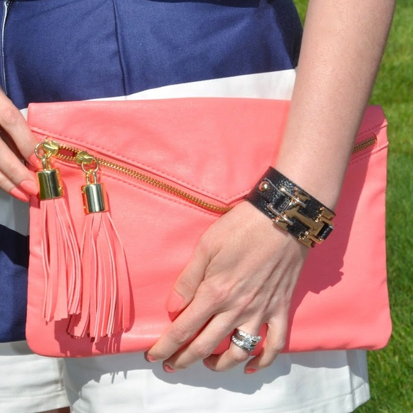 ASOS Handbags - Coral clutch