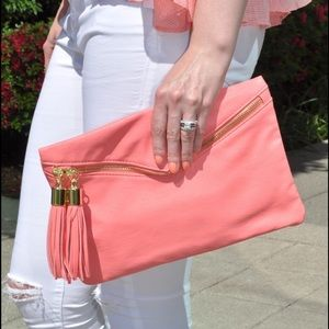ASOS Bags - Coral clutch