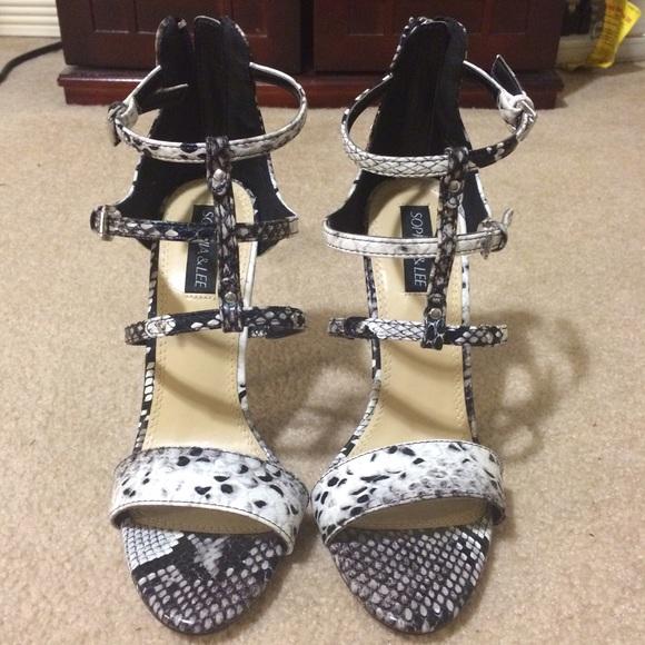 Sophia & Lee Shoes - Snake print heels
