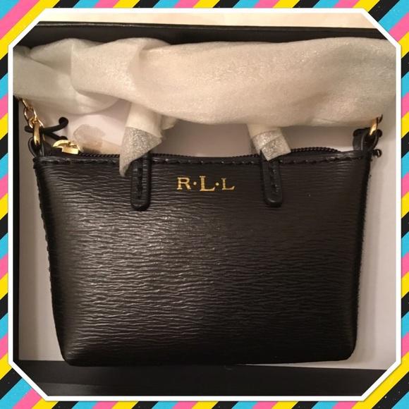 4c3eb80bc8f Ralph Lauren Bags   Newbury Black Mini Bag Charm Nwt   Poshmark