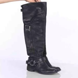 Miss Sixty Leighton Over the Knee Tall Black Boot