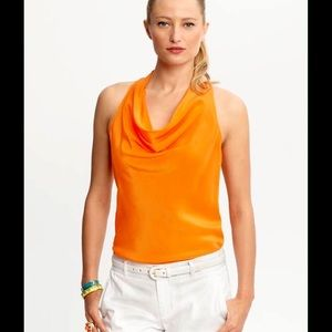 Banana Republic Tops - HP🎀Banana Republic Trina Turk orange cowlneck top