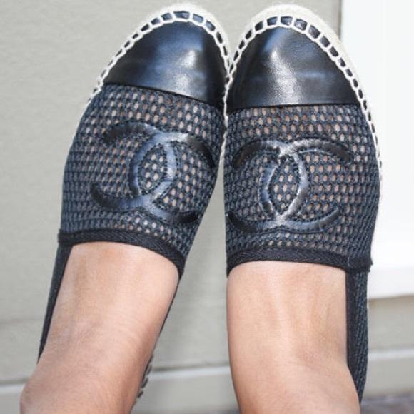 CHANEL Shoes   Chanel Espadrilles Black
