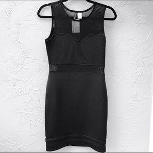 9f027af5c883 H M Dresses - H M Black Mesh Bodycon Dress