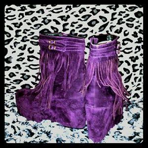 Shoes - 🔔👛💄👡👠Purple Ankle Platform Boots👠👡💄👛🔔