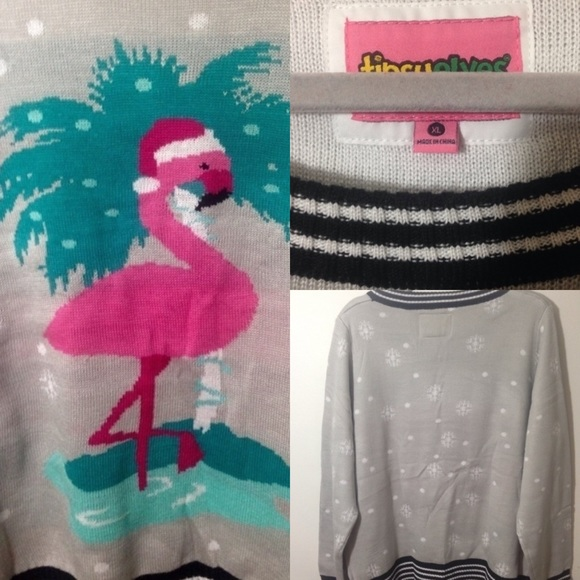 flamingo christmas sweater 78