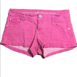 Dollhouse Pants - Hot pink stretchy jean shorts