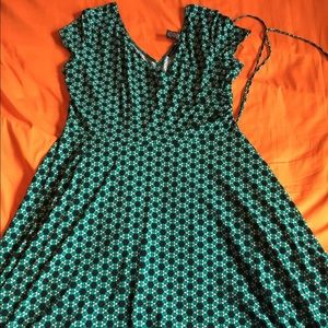 $5 off TODAY ONLY! Green/Blue NY&Co Dress, Size XL