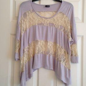 Sparkle & Fade Tops - SALE✅SPARKLE & FADE lilac and lace bohemian top