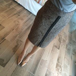 Classiques Entier Skirts - Brown tweed and zippered skirt
