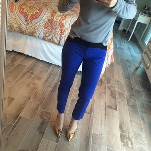 Ecru Pants - Bright blue ankle pants