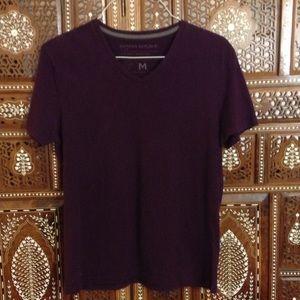 Banana Republic Other - Men's V-neck T shirt. Burgundy/maroon color