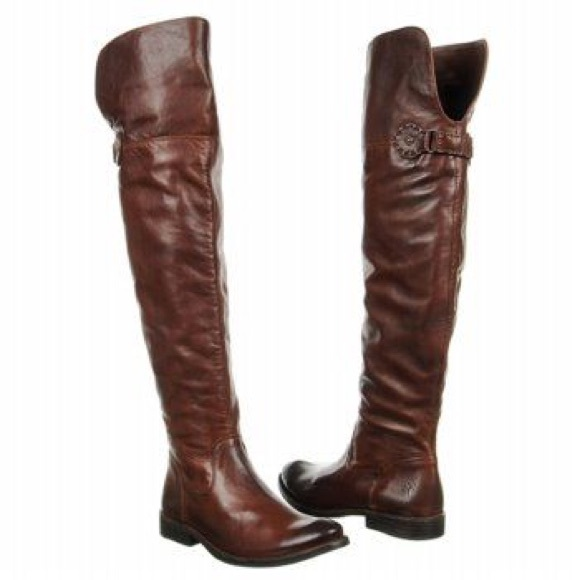 Over The Knee Riding Boots Brown | FP Boots