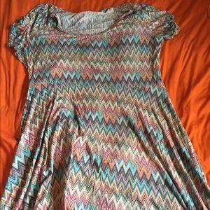 American Rag Skater Style Chevron Dress, 3X