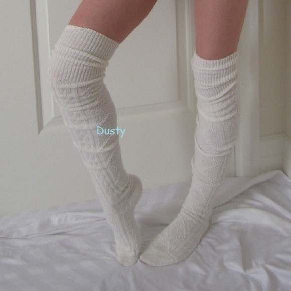 2f94204b507 Long Cable Knit Over The Knee Socks Thigh High OTK. NWT. Dustyposh