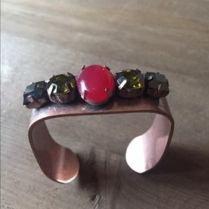 Capwell + Co Rose Gold Jeweled Bracelet
