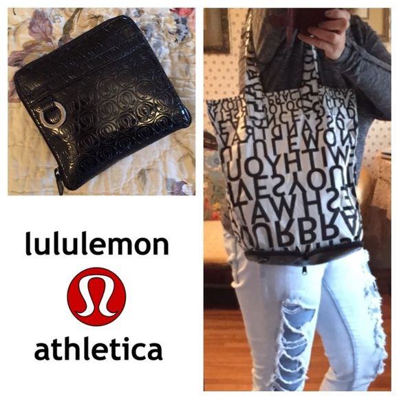 35edb6c4ad lululemon athletica Handbags - Lululemon Go Go Shopper fold up mantra tote  bag