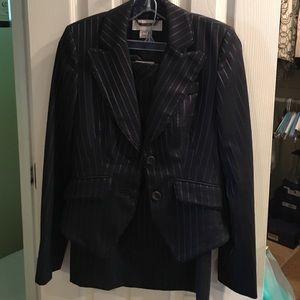 Karen Millen 2 piece navy pinstripe skirt suit