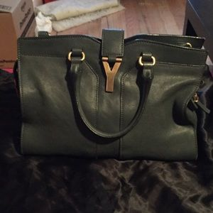 Ysl mini Cabas olive green. 100% authentic.