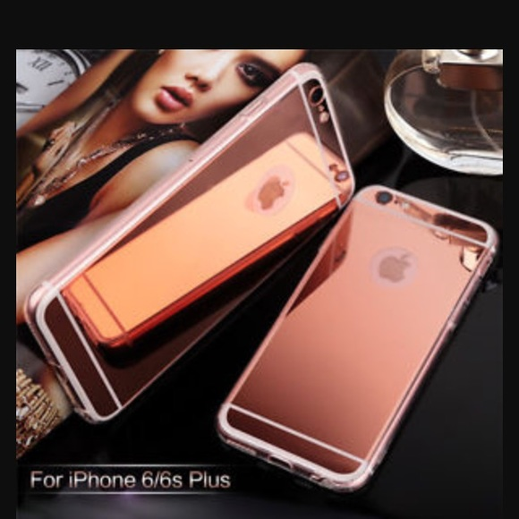 newest 27523 d0bf4 IPHONE 6/S ROSE GOLD MIRROR CASE NWT