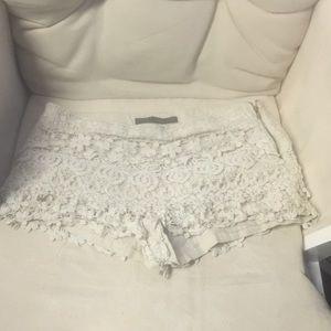 Zara Crochet lace shorts