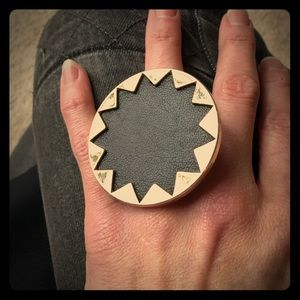 House of Harlow Black Starburst Ring