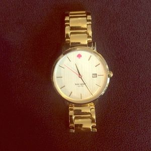 Kate Spade gold watch w/neon pink!