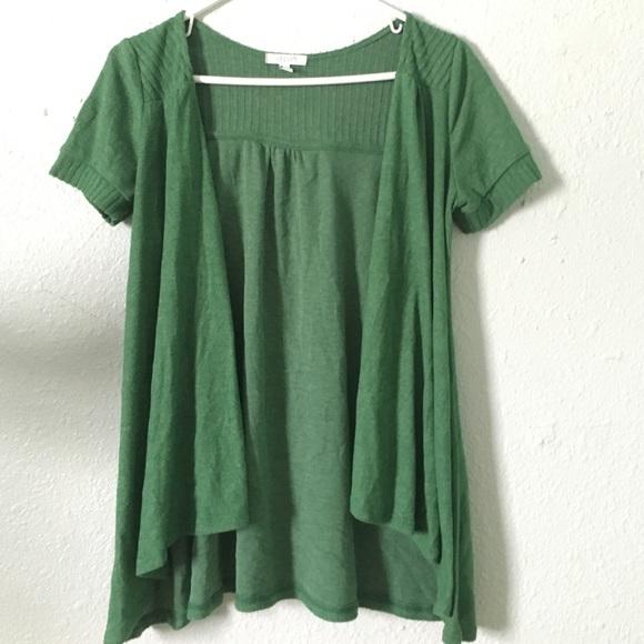 80% off Delia's Sweaters - Delia's short sleeve green cardigan ...