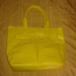 Neiman Marcus Large Yellow Tote Bag Purse
