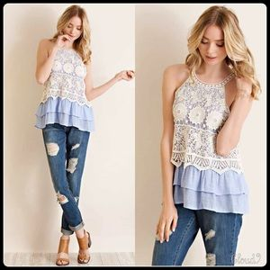 Cloud 9 Tops - Gorgeous~ Ice Blue /Lace Top